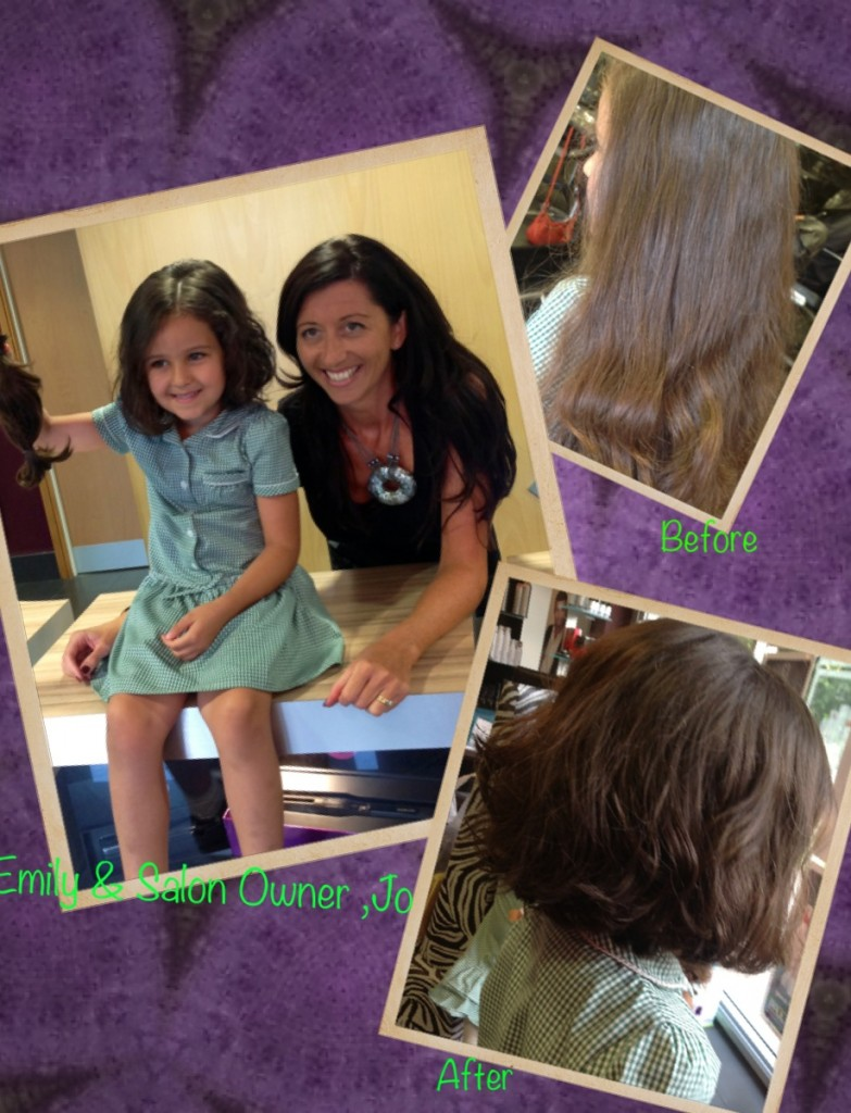 Before and After Hair Cut for Hair Donation