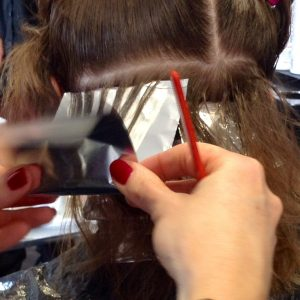 Hair Dying Process with Foils