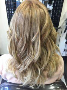 Curly Blonde Transformation