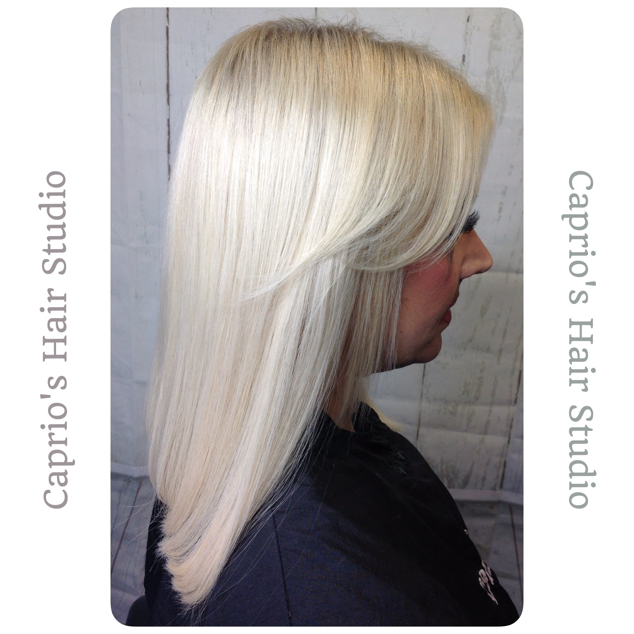 Ice Blonde Medium Length Hair