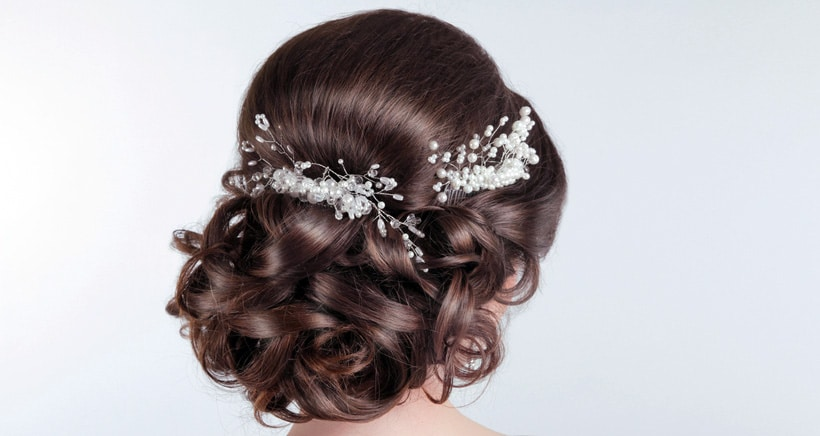 wedding bridal prom hair