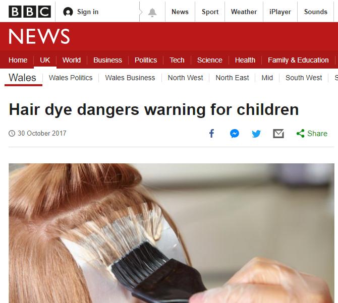Hair Dye Warning