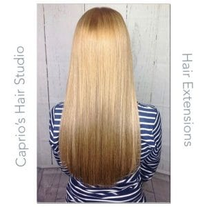 Straight Hair Extensions - After