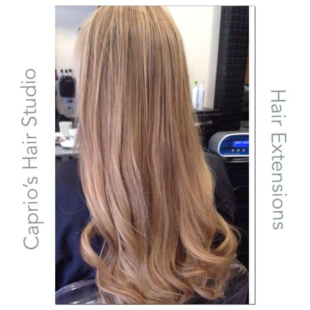 After Hair Extensions at Caprio's