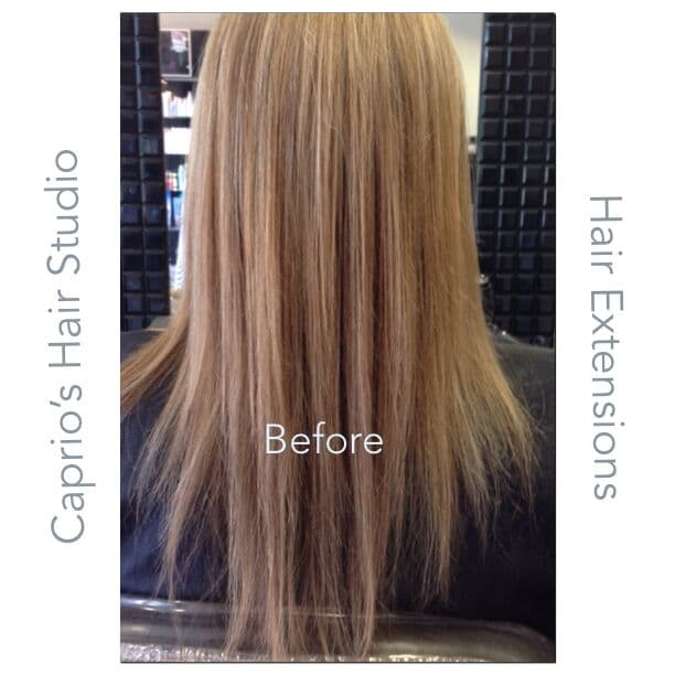 Before Hair Extensions at Caprio's