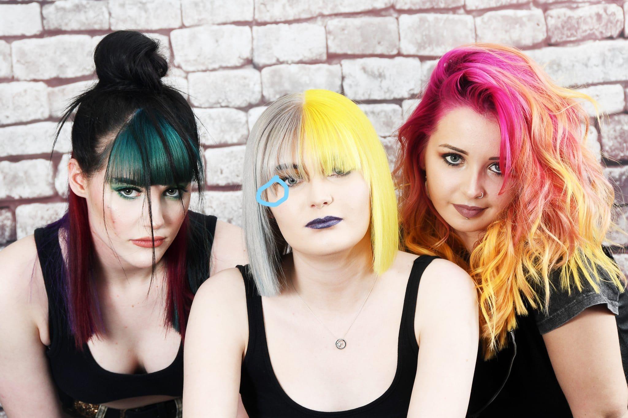 3 Women - Different Bright Hair Styles