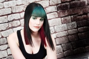 Collection 1 - Black, Green and Red Hair