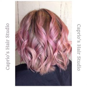 Pink Hair Colouring