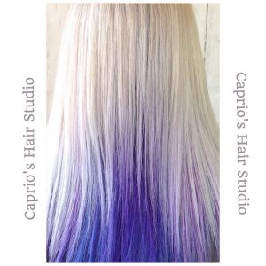 Blonde to Purple Hair Colouring