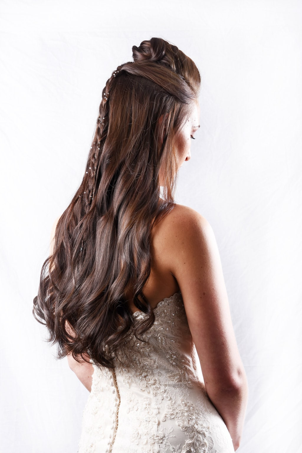 Wedding Collection - Brown Curls with Plait