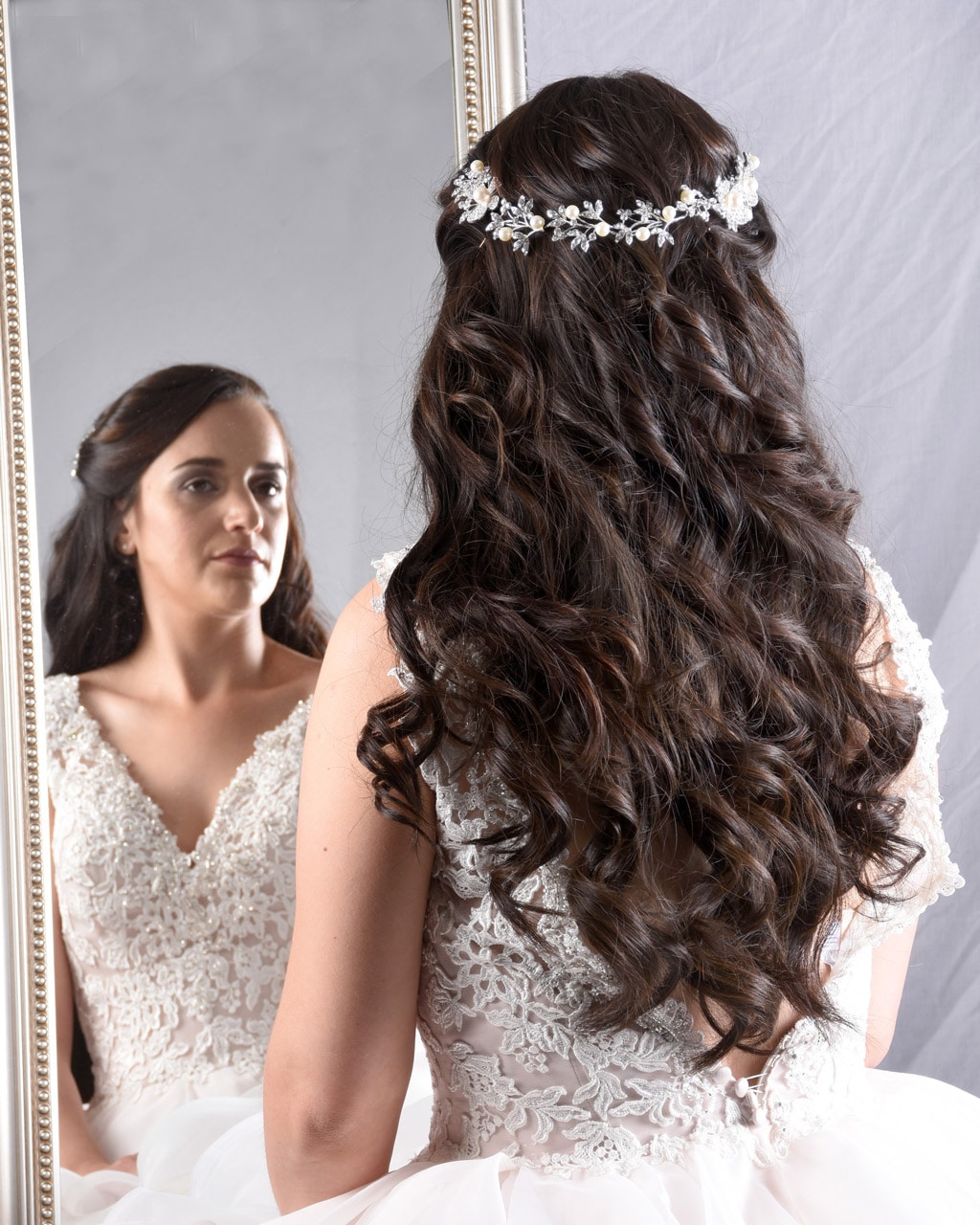 Wedding Collection - Brown Curls with Accessory