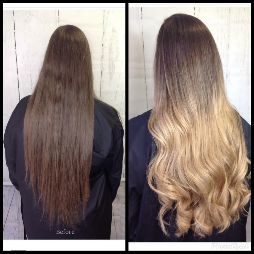 Hair Transformation - Long Blonde