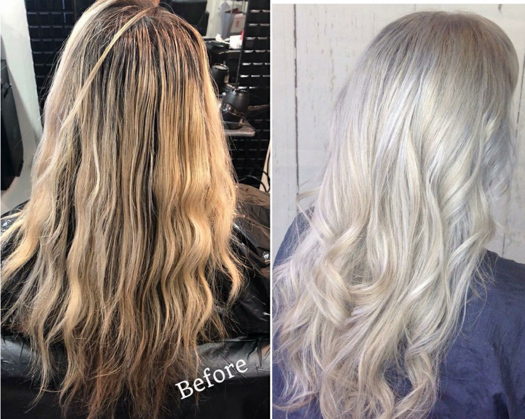 Before and After Blonde Transformation