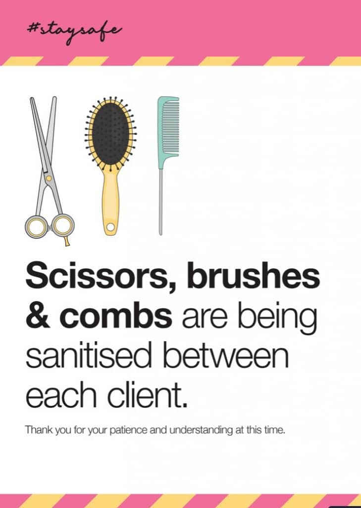 Scissors, Brushes and Combs Sign