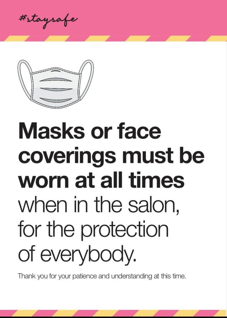 Face Masks To Be Worn Poster