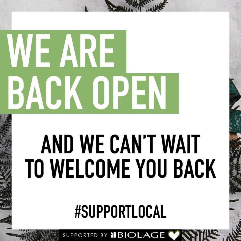 We Are Back Open