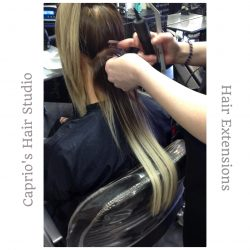 Hair Extensions in Progress