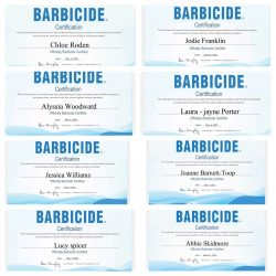 Barbicide Certifications